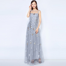 40b7bd4b1a39b Free DHL Fashion Designer Maxi Dress 2018 New High Quality Women s  Sleeveless Star Embroidered Long Party