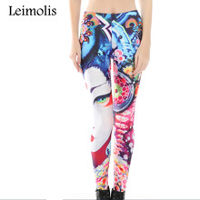 3D print Abstract color winter warm Harajuku punk adventure time workout push up spandex plus size fitness leggings women pants abstract print leggings
