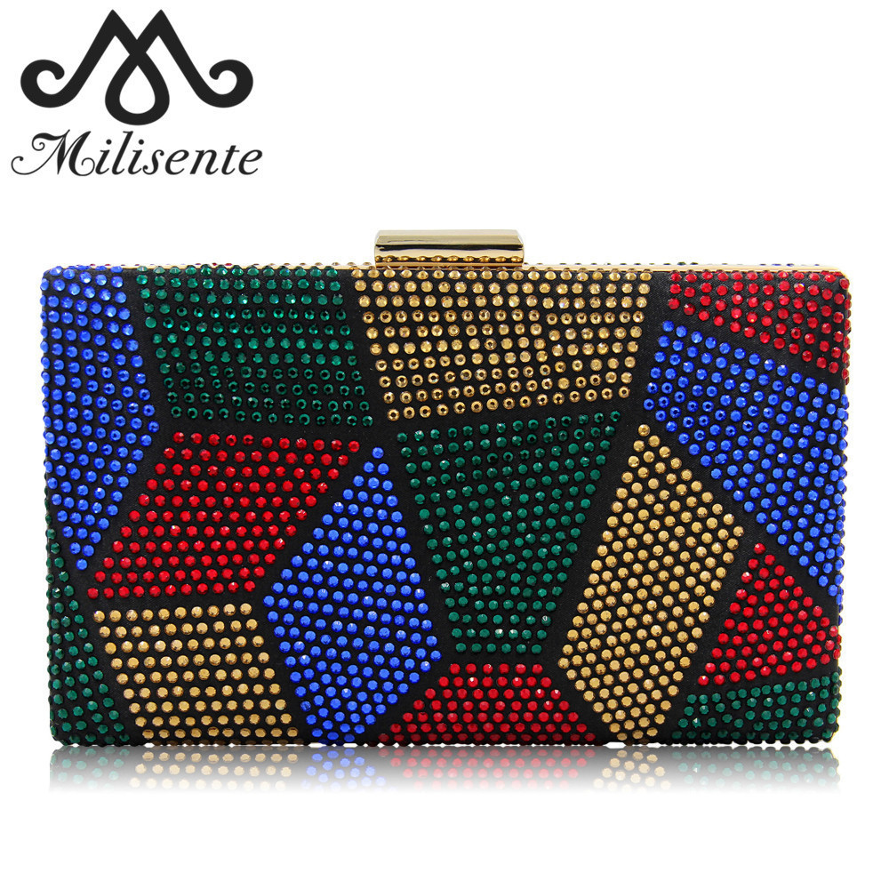 Milisente New Design Women Clutches Purses Ladies Evening Bags Hot-fix Fashion Party Bag Female Wedding Clutch summer sexy swimsuit vintage high waist bikini retro push up swimwear women plus size bathing suit printed floral bikinis set page 9