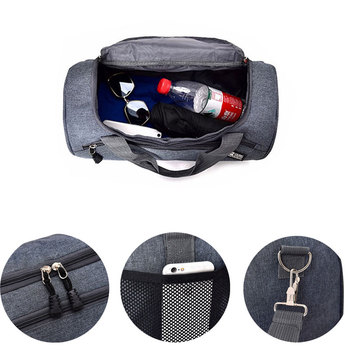 Scione Men Travel Sport Bags Light Luggage Business Cylinder Handbag Women Outdoor Duffel Weekend Crossbody Shoulder Bag Pack 4
