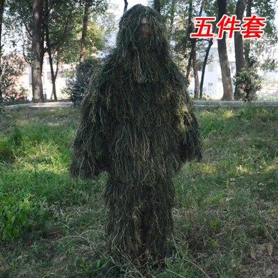 3D Jungle Camouflage Hunting Clothes Ghillie Suit Jacket Pants Hat Bag Desert Tactical Sniper Woodland Hunting