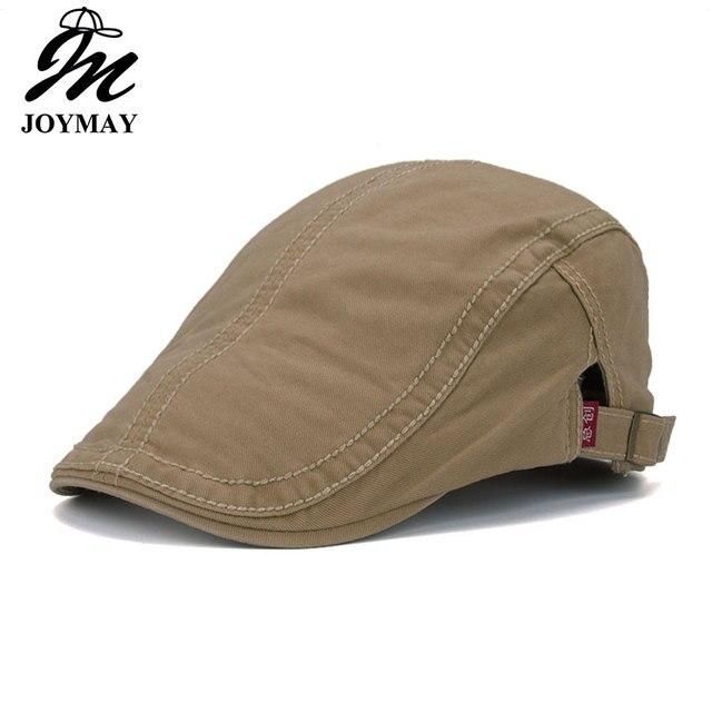 Joymay 2016 Nuevo algodón boinas gorras para hombres Casual gorros boinas  sombreros gorra de Y015 db4233b0952