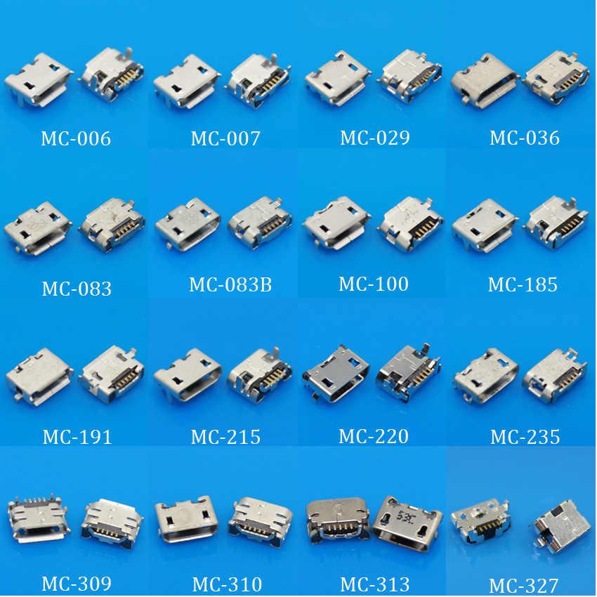 Pour le Mini connecteur de prise de prise de microUSB, petit klaxon de boeuf de 5 broches 7 broches pour le Port de l'immersion V8 de SMD de mélange de tablette de téléphone de Samsung Huawei Lenovo
