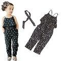 2015 девушки Комбинезон одежда дети Девушки жгут форме сердца кусок комплект одежды лета малышей Комбинезон одежда