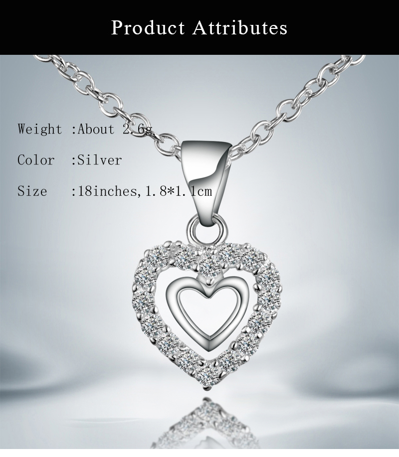 938bd0d733 Humble Chic Tiny Heart Necklace Delicate Dainty Pendant Chain Link Mini  Charm Heart Love Pendant & Necklace