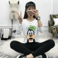 Basic T Shirt Women Long Sleeve Harajuku Kawaii Cartoon Mickey Top 2016 Spring Autumn Tee Shirt Femme Korean Style T-Shirt