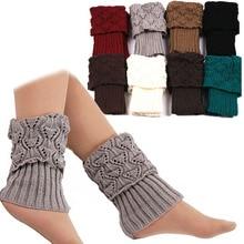 1 Pair Women Crochet Boot Cuffs Knit Toppers Socks Winter Leg Warmers Calcetines Mujer