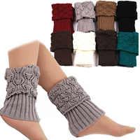1 par de puños de arranque de ganchillo para Mujer Calcetines de bota para invierno calentadores de piernas Mujer