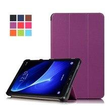 Slim Magnetic Folding Flip Cover For Samsung Galaxy TAB A10.1 T580N/T585C PU Leather Skin Tablet Case Funda+Stylus Pen+Film.
