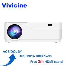 Vivicine M18 1080 p светодиодный проектор, дополнительный Android 7,1 HDMI USB PC Full HD домашнего мультимедийного видео игры проектор