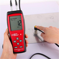 1 Set Digital Display High Precision AS853 Ultrasonic Thickness Gauge Plastic Metal Plate Thickness Measurement