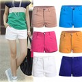 New Arrival Summer Women's Shorts Causal Style For Women Slim Fit short Trousers Solid Mid Waist Feminino Black / white 7 Color