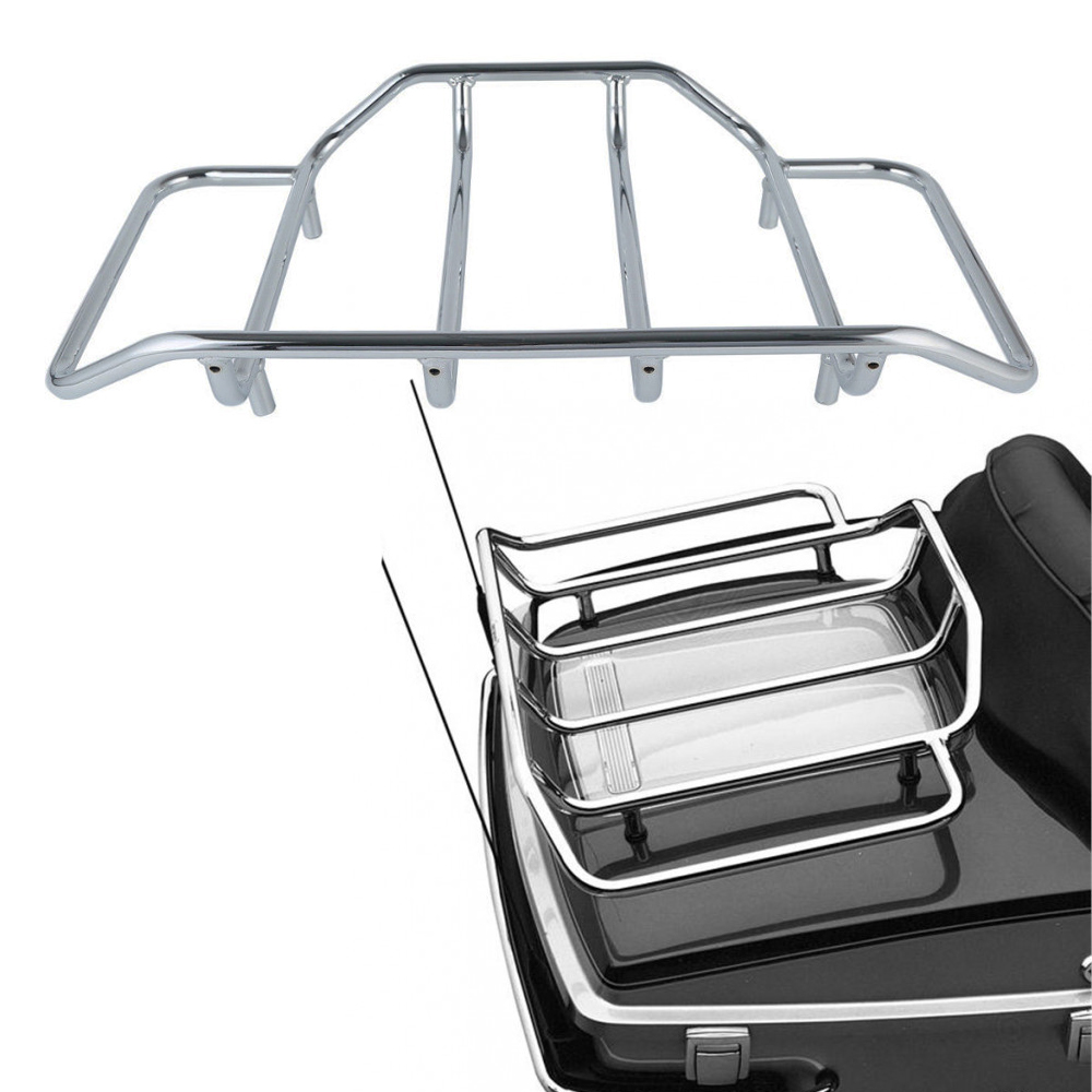 For Touring Road King Street Glide Chrome Luggage Rack Tour Pak Top Pack Road Glide FLTRX