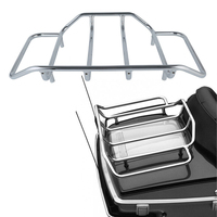 Chrome Tour Pak Top Pack Luggage Rack For Harley Touring Street Glide Road King Road Glide FLTRX Electra Glide CVO 1984 2017