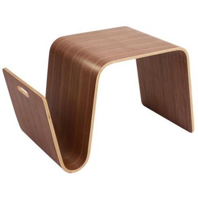 Mesa de centro de madera para sala de estar W36 * D66 * H40 CM