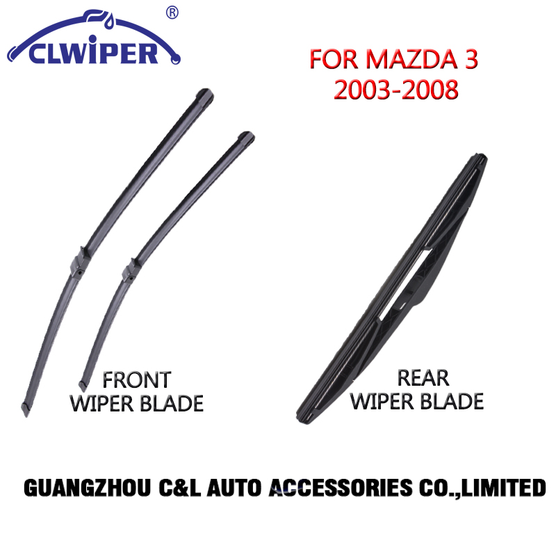 Front and Rear Wiper Blades For MAZDA 3 (2003 2008)2004