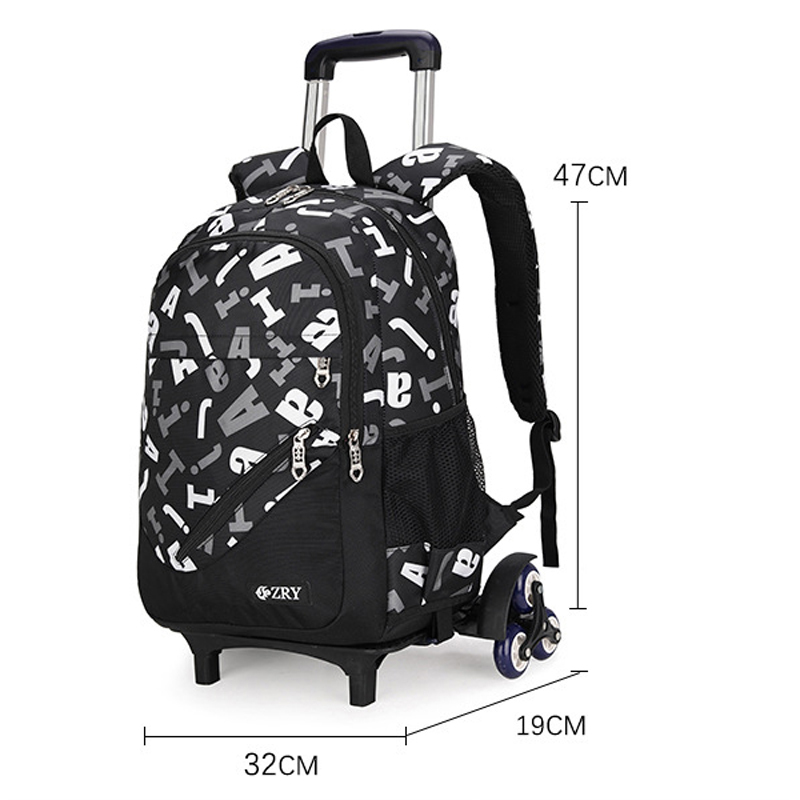 Boys Girls Trolley Schoolbag Luggage Book Bags Backpack Kids Latest Removable Children School Bags 2 6 Wheels 3pcs Suit in School Bags from Luggage Bags