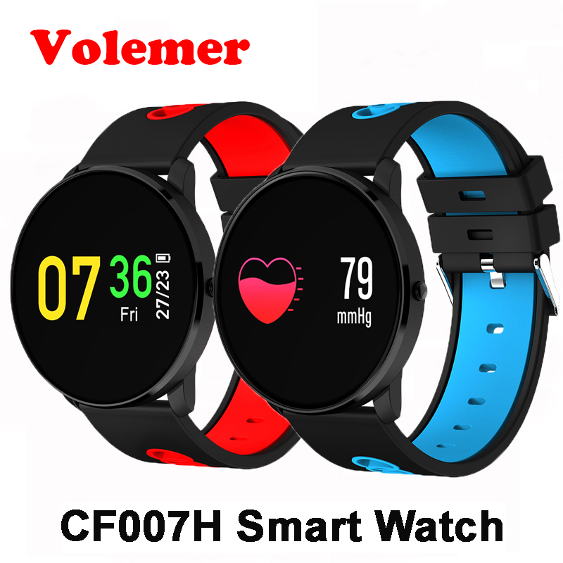 Volemer CF007 Color Screen Smart Band Heart Rate Blood Pressure Monitoring Bracelet Weather Forecast Remind Fitness Wristband