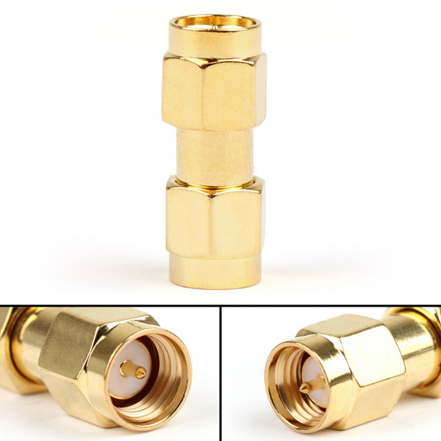 Areyourshop SMA Male To SMA Male Plug Jack RF Connector Adapter Coupler Straight Type 10PCS 50Ohm Connector for Cables