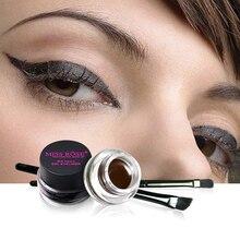 Miss Rose Black and Brown Professional Eyeliner Cream Eye Liner 24 Hours Long Lasting Waterproof Makeup недорого