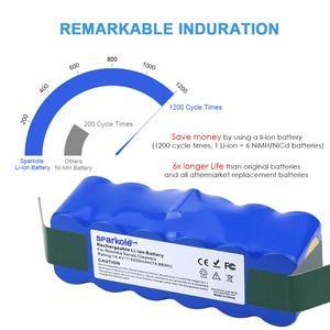 Image 3 - Sparkole 5.2Ah 14.4V Batterij Li Ion Batterij Voor Irobot Roomba 500 600 700 800 Serie 510 530 555 620 650 760 770 780 790 870 880