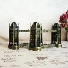 UK London Bridge Model Thames Bridge World Famous Buildings Alloy Crafts Home Decorations thames