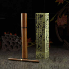 Chinese Culture Antique Pure Copper Alloy Stick Incense Burner Needle Aromatherapy Furnace Cutout Lettering Tube Set Free Ship