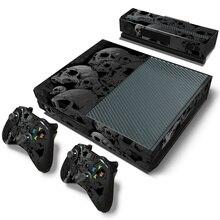 Schädel design haut aufkleber für Microsoft xbox one vinyl schutzhülle aufkleber für xbox one console controle haut für xbox one