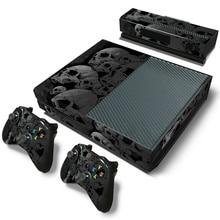 Skullออกแบบสติกเกอร์ผิวสำหรับMicrosoft Xbox Oneป้องกันไวนิลสติกเกอร์สำหรับXbox One Console ControleผิวสำหรับXbox One