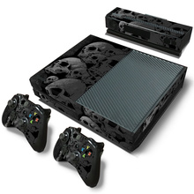 Skull design skin sticker for Microsoft xbox one vinyl protective cover sticker for xbox one console controle skin for xbox one