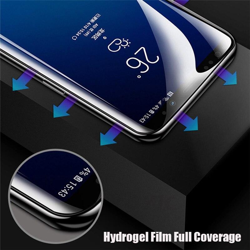 3D pełna pokrywa miękkie hydrożelowe Film do Samsung Galaxy S10 S8 S9 A8 Plus S7 krawędzi uwaga 9 8 A9 s10 Plus Lite 5G folia ochronna na ekran 26