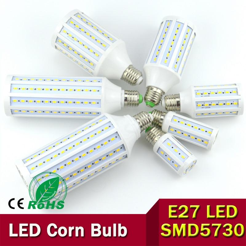 5730 SMD LED Lamp,  7W 12w 15w 25w 30W 40w 50w LED Corn Bulb, E27 220V/110V Corn bulb light