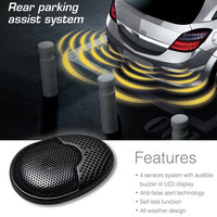 Ebat C1 4 Sensors Parking Assist System Car Parking Sensor Reverse Radar Alert System with External Audible Buzzer Speaker