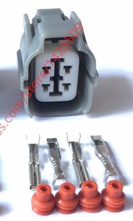 50/100 Sets 4 Pin Sumitomo 6189-0132 Female HW Sealed Electrical Wire Connector For Honda B-Series O2 Sensor Plug50/100 Sets 4 Pin Sumitomo 6189-0132 Female HW Sealed Electrical Wire Connector For Honda B-Series O2 Sensor Plug