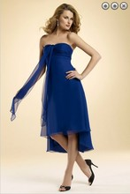 free shipping dinner dress 2013 New fashion Party Gown brides maid vestidos formales short royal blue Bridesmaid Dresses