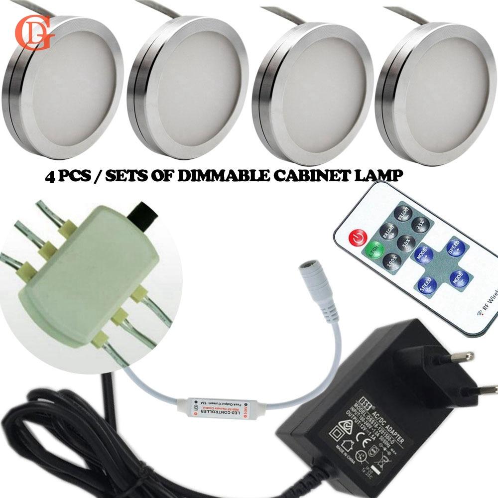 Kitchen Under Cabinet Lighting B & Q Part - 38: 4pcs Sets Of Dimmable 12V DC 2.5W LED Under Cabinet Lighting Puck Light For  Kitchen
