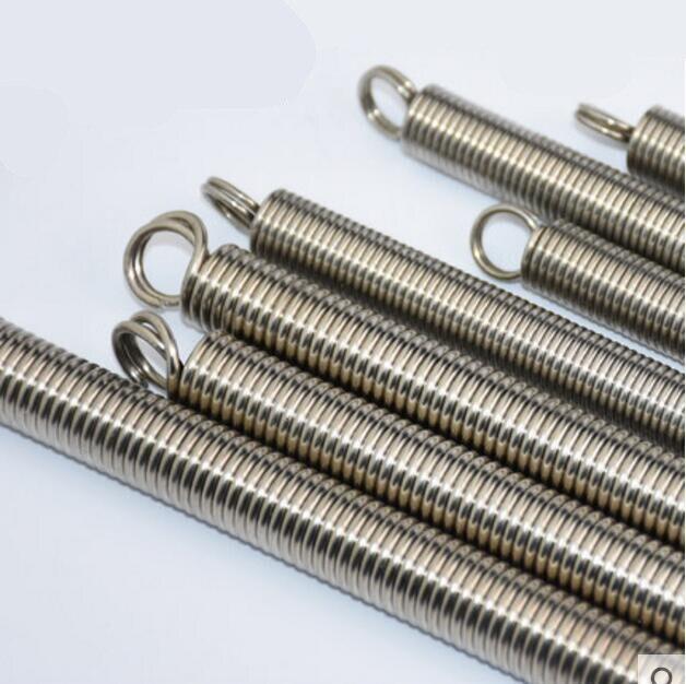 Extension Tension Spring 1mm Wire Diameter 5mm Outer Diameter Black 30-400mm Len