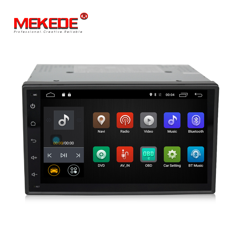 Free shipping built-in map software 2 din Universal 7 inch full touch screen with support radio Ipod Bluetooth mirror link