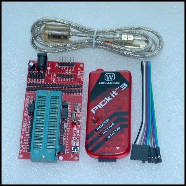 Pickit 3 Программирование/Эмулятор + микроконтроллер PIC/минимальная системная плата/макетная плата/универсальное программирующее сиденье