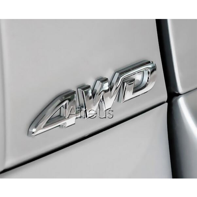 3D 4WD 4x4 Metal Sticker Car-Styling For Lexus Toyota Corolla Rav4 Auris Prius Ssangyong Kyron Rexton Korando Actyon Accessories