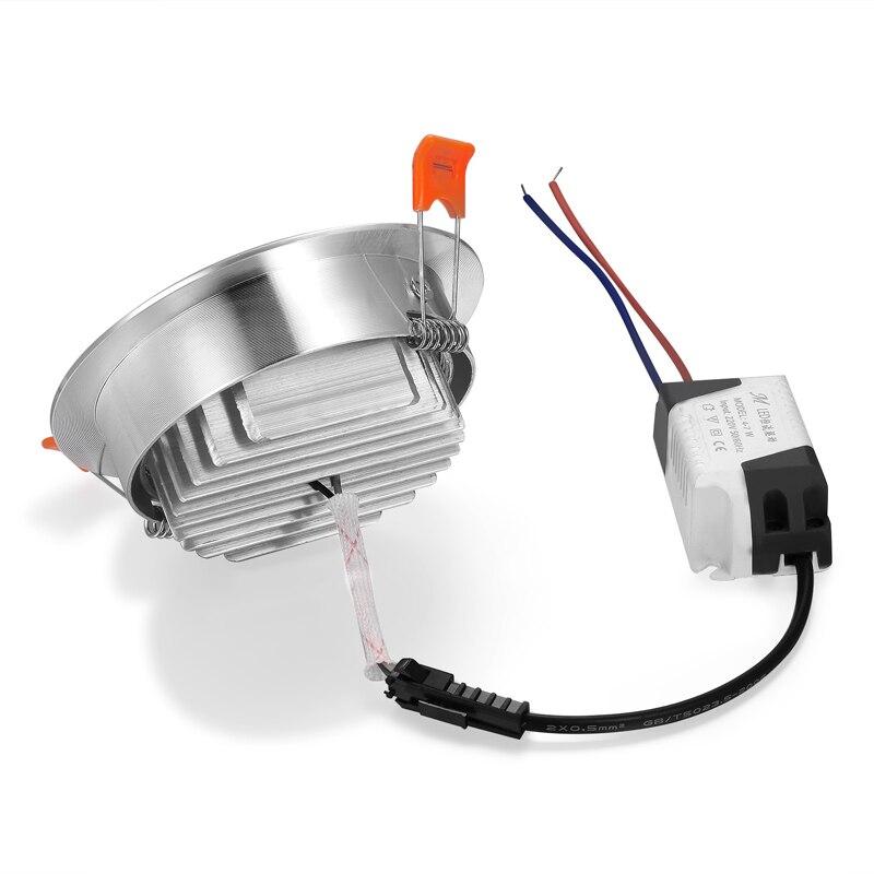 Image 2 - 1X 3W 5W 7W 12W 220V High power LED Downlight Recessed LED Spot light Lamp Aluminum Bulb For Living room bedroom Lighting-in LED Downlights from Lights & Lighting