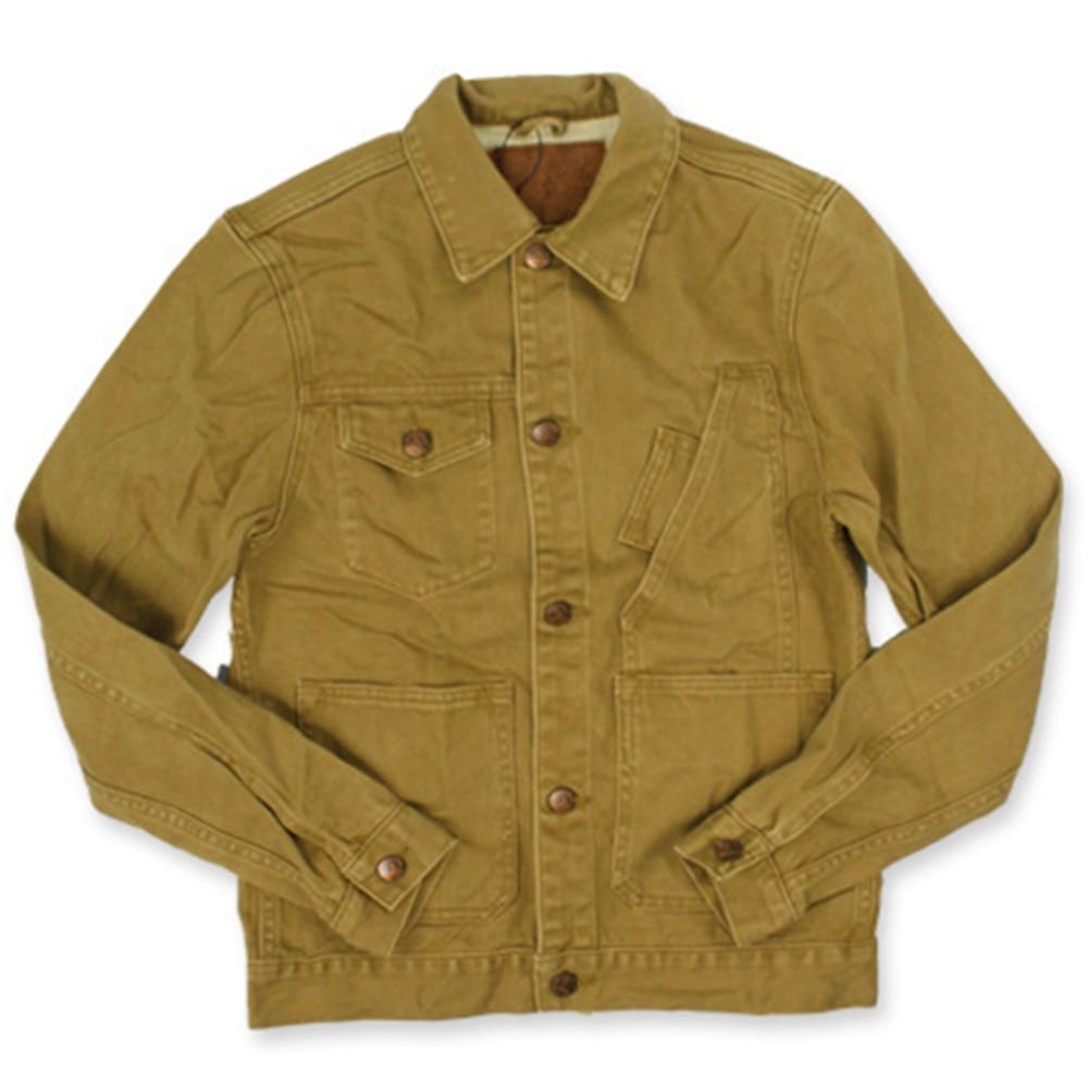 2017 Spring Autumn New Vintage Cargo Jacket Casual Cotton Short Slim Fit Khaki Coat For Men High Quality Fashion Clothing