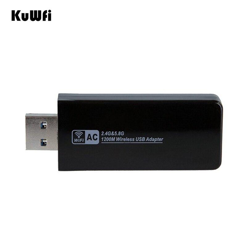 Image 5 - 11AC 1200 Мбит/с USB3.0 беспроводной адаптер 2,4G/5,8G двухдиапазонный приемник USB Wi Fi 2T2R антенна Точка беспроводного доступа сетевая карта для рабочего стола-in Сетевые карты from Компьютер и офис
