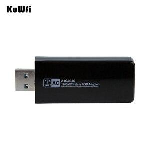 Image 5 - 11AC 1200Mbps USB3.0 무선 어댑터 2.4G/5.8G 듀얼 밴드 USB Wifi 수신기 2T2R 안테나 AP 데스크탑 용 무선 네트워크 카드