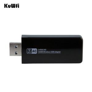 Image 5 - 11AC 1200Mbps USB3.0 محول لاسلكي 2.4G/5.8G ثنائي النطاق USB جهاز استقبال واي فاي 2T2R هوائي AP بطاقة الشبكة اللاسلكية لسطح المكتب