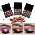 12 Colors Eye Makeup Powder Matte Highlight Eye shadow Palette Nude and Smoky Eyeshdow Blush Makeup+Double Ended Brush Cosmetic