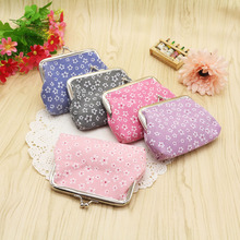 New Fashion Plain Flower Buckle Coin Purse Storage Ladies Small Bag Fresh Simple Easy To Carry Campus