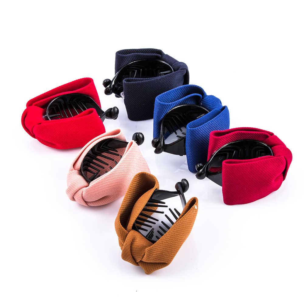 1 قطعة الكورية نمط المرأة أنيقة الشيفون الملونة روز زهرة القوس الفك كليب مشبك إكسسوارات الشعر الأزياء الفتيات هدية