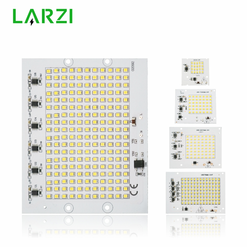 LARZI LED Chip Lamp 10W 20W 30W 50W 100W SMD2835 Light Beads AC 220V-240V Led Floodlight Outdoor Lighting Spotlight