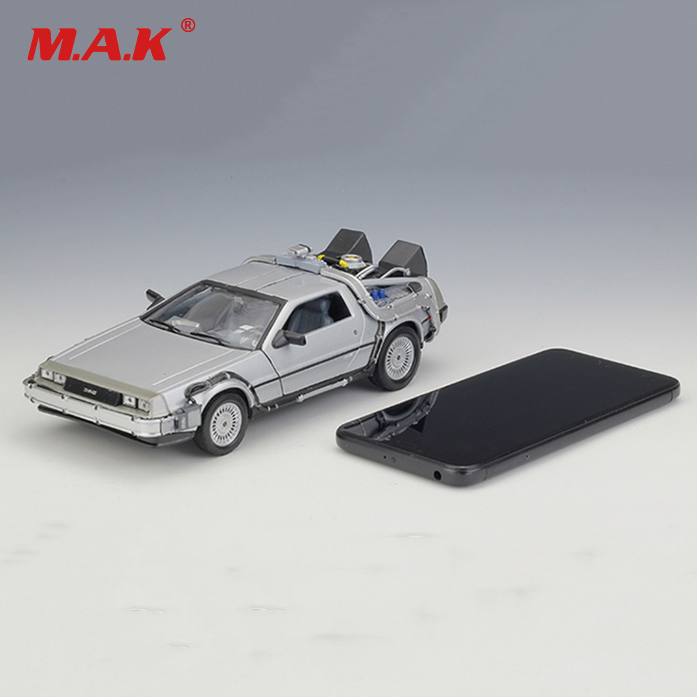 New Cool Car Model Toys 1/24 Scale Diecast Welly Back To The Future Part 1 2 3 Time Machine DeLorean DMC-12 Model for Kid Gift джинсы time for future time for future ti016ewsru27